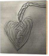 Broken Heart Mended Wood Print