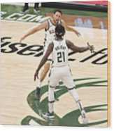 Bryn Forbes and Jrue Holiday Wood Print