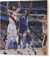 Buddy Hield and Skal Labissiere Wood Print