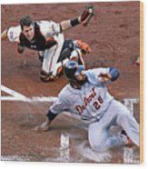Buster Posey and Prince Fielder Wood Print