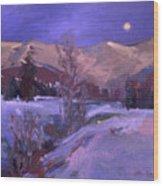 Cabinet's Winter Eve Wood Print