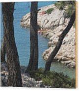 Calanques near Cassis Wood Print