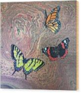 California Butterflies Wood Print
