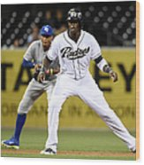 Cameron Maybin and Alcides Escobar Wood Print
