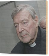 Cardinal George Pell Attends Court To Face Historical Child Abuse Charges Wood Print
