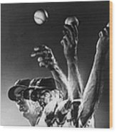Carl Hubbell Wood Print