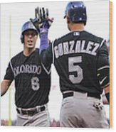 Carlos Gonzalez and Corey Dickerson Wood Print