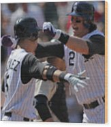Carlos Gonzalez and Troy Tulowitzki Wood Print