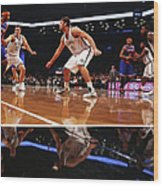 Carmelo Anthony, Brook Lopez, and Mirza Teletovic Wood Print