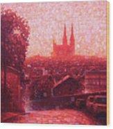 Cathedral Sunrise Wood Print