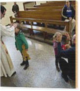 Catholic Church Hosts Mass For House Pets Wood Print