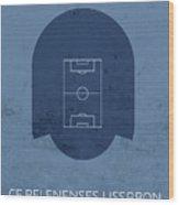 Cf Belenenses Lissabon Stadium Football Soccer Minimalist Series Wood Print