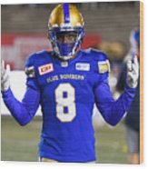 CFL: AUG 24 Winnipeg Blue Bombers at Montreal Alouettes Wood Print