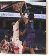 Charlotte Hornets v Toronto Raptors Wood Print