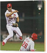 Chase Utley and Jhonny Peralta Wood Print