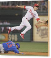 Chase Utley and Starlin Castro Wood Print