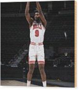 Chicago Bulls v Denver Nuggets Wood Print