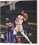 Chicago Bulls v LA Lakers Wood Print