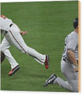 Chris Davis and Matt Holliday Wood Print