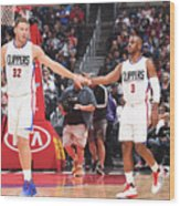 Chris Paul and Blake Griffin Wood Print
