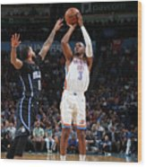 Chris Paul and D.j. Augustin Wood Print