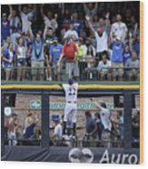 Christian Yelich and Anthony Rizzo Wood Print