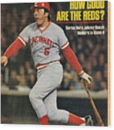 Cincinnati Reds Johnny Bench, 1976 World Series Sports Illustrated Cover Wood Print