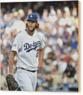Clayton Kershaw and Jhonny Peralta Wood Print