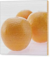 Close-up of oranges Wood Print
