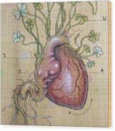 Clover Heart Wood Print