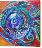 Colorful Comeback Fish Wood Print