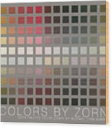 Colors By Zorn Wood Print