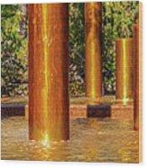 Copper Columns at Peavey Plaza Wood Print