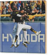Corey Dickerson and Starling Marte Wood Print