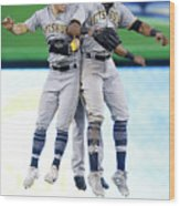 Corey Dickerson, Starling Marte, and Gregory Polanco Wood Print