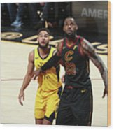 Cory Joseph and Lebron James Wood Print