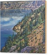Crater Lake Overlook Wood Print