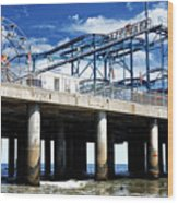 Crazy Mouse on the Steel Pier in Atlantic City Wood Print