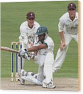 Cricket - Liverpool Victoria County Championship - Division Two - Day Three - Worcestershire v Surrey - New Road Wood Print