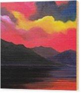 Crimson clouds Wood Print