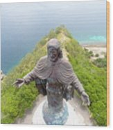 Cristo Rei of Dili statue of Jesus Wood Print