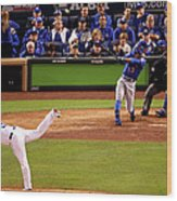 Curtis Granderson and Edinson Volquez Wood Print