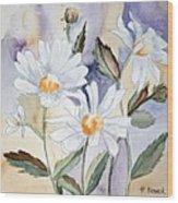 Daisy Days Wood Print