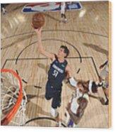 Dallas Mavericks v Los Angeles Lakers Wood Print