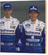 Damon Hill and Ayrton Senna Wood Print