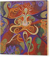 Dance Of Color Wood Print