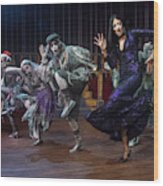 Dance With The Relatives  Wood Print