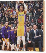 D'angelo Russell Wood Print