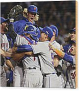 Daniel Murphy and Noah Syndergaard Wood Print