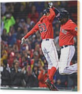 David Ortiz and Mookie Betts Wood Print